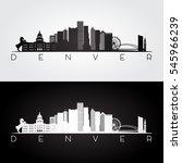 denver usa skyline and... | Shutterstock .eps vector #545966239