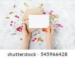 stylish branding mockup with... | Shutterstock . vector #545966428