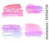 set of watercolor stains. spots ... | Shutterstock .eps vector #545966734