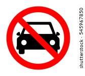 no car sign illustration.  | Shutterstock .eps vector #545967850