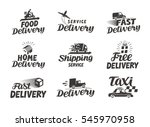 delivery  shipping set icons.... | Shutterstock .eps vector #545970958