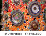 wall decorated with colorful...   Shutterstock . vector #545981830