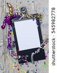 carnival confetti on wood... | Shutterstock . vector #545982778