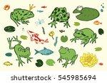 funny frog animal set