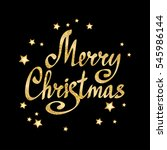 merry christmas calligraphic... | Shutterstock .eps vector #545986144
