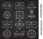 vintage retro coffee labels and ... | Shutterstock .eps vector #545990389