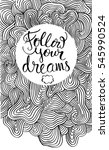 follow your dreams card with... | Shutterstock .eps vector #545990524