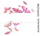 watercolor butterfly design.... | Shutterstock . vector #545991988