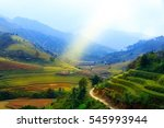 rice fields on terraced of mu... | Shutterstock . vector #545993944