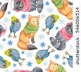 watercolor seamless pattern... | Shutterstock . vector #546006514