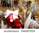 christmas ornaments red ball... | Shutterstock . vector #546007024