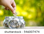 savings money coins with sun... | Shutterstock . vector #546007474