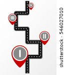 road map with markers   Shutterstock .eps vector #546027010