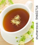 white cup with lime tea and... | Shutterstock . vector #54602716
