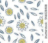 seamless pattern with leaves.... | Shutterstock .eps vector #546028408