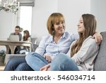 affectionate mother and... | Shutterstock . vector #546034714