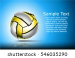 3d abstract logo of volleyball... | Shutterstock .eps vector #546035290