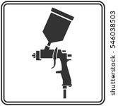 spray gun. paint. car | Shutterstock .eps vector #546038503