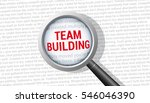 team building magnifying glass | Shutterstock .eps vector #546046390