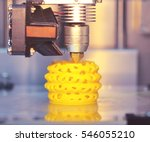 3d printer printing objects... | Shutterstock . vector #546055210