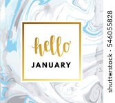 hello january creative ... | Shutterstock .eps vector #546055828