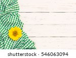 Green Tablecloth With Sunflowe...