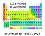 tabla periodica de los... | Shutterstock .eps vector #546065926