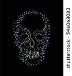 skull embellishment in vector. | Shutterstock .eps vector #546068083