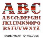 spanish alphabet  capital... | Shutterstock .eps vector #546069958