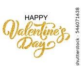 happy valentine's day hand...   Shutterstock .eps vector #546071638