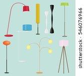 floor lamps collection.set of...   Shutterstock .eps vector #546076966