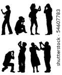 vector image of people... | Shutterstock .eps vector #54607783