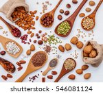 various kind legumes and... | Shutterstock . vector #546081124