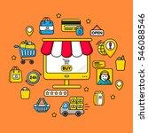gadget internet shop  e... | Shutterstock .eps vector #546088546