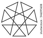 heptagon geometric logo ... | Shutterstock .eps vector #546095608