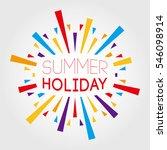summer holiday. vector...   Shutterstock .eps vector #546098914