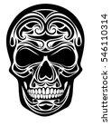 skull tattoo | Shutterstock .eps vector #546110314
