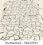 cracked earth background | Shutterstock .eps vector #54612541