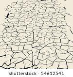 cracked earth background   Shutterstock .eps vector #54612541