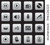 set of 16 editable mp3 icons.... | Shutterstock .eps vector #546126223
