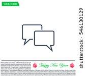 speech bubbles icon. vector...   Shutterstock .eps vector #546130129