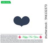 heart   vector icon | Shutterstock .eps vector #546132373