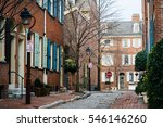 historic brick houses and... | Shutterstock . vector #546146260