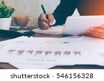 businessman making notes on the ... | Shutterstock . vector #546156328