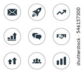 set of 9 simple startup icons.... | Shutterstock . vector #546157300