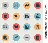set of 16 simple education... | Shutterstock . vector #546160294