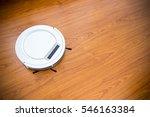 robotic vacuum cleaner on...   Shutterstock . vector #546163384