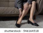 business woman  foot  tired ...   Shutterstock . vector #546164518