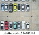 empty parking lots  aerial view. | Shutterstock . vector #546181144