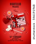 red flyer for valentine's day... | Shutterstock .eps vector #546191968
